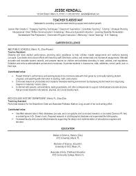 Sample Resume Teacher Assistant Preschool Objective Free Writing Intended For