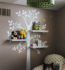 Tree Wall Decor Baby Nursery by Shelving Tree Decal With Birds