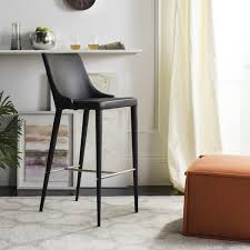 Black Leather Bar Stools by Leather Bar Stools