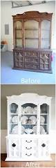 Shabby Chic Dining Room Hutch by Best 25 Hutch Makeover Ideas On Pinterest Painted Hutch