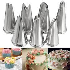 douille cuisine 7x feuille douille à gâteau inox embout décoration fondant