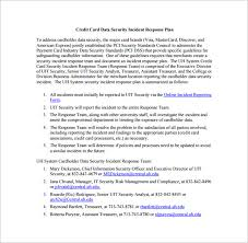 Credit Card Security Incident Response Plan Free Pdf Download