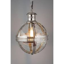 Medium Nickel Finish Globe Chandelier For Brilliant Residence Orb Remodel