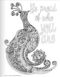 Peacock Quote Coloring Pages For Adult
