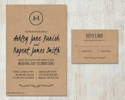 How To Fill Out A Rsvp Wedding Invitation Elegant Rustic Diy Kraft Paper
