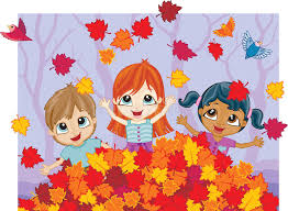Download Autumn Fun In A Pile Leaves Stock Vector Image