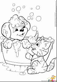Fantastic Printable Puppy Coloring Pages With Of Puppies And Free