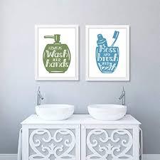 moderne badezimmer buchstaben poster kunstdrucke leinwand