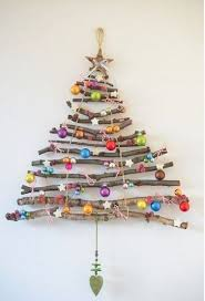 DIY Stick Christmas Tree Craft I Like The Sticks Not Ornaments