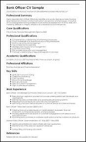 Businessdegreeonline Sample Resume For Bank Jobs Freshers Samples Database