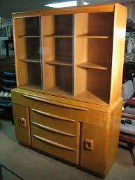 Heywood Wakefield Dresser Los Angeles by Gilbert Rohde Inspired Heywood Wakefield Credenza With Glass Top