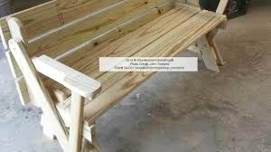 table picnic table bench with back plans wonderful picnic table