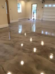 Gray White Epoxy Metallic Floor