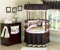 Glancing Your Baby Rooms In Round Baby Cribs As Wells As Canopy