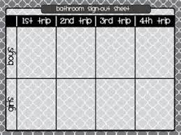Printable Bathroom Sign Out Sheet For Classroom by Bathroom Sign Out Fresh Bathroom