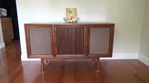 Magnavox Record Player Cabinet Astro Sonic by Mid Century Modern Motorola Record Player Console Youtube