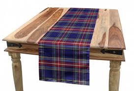 abakuhaus tischläufer esszimmer küche rechteckiger dekorativer tischläufer plaid scottish country style kaufen otto
