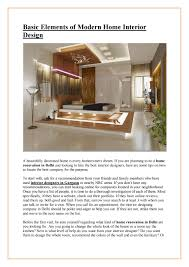 104 Modern Home Designer Basic Elements Of Interior Design By Rakahitsjain Issuu