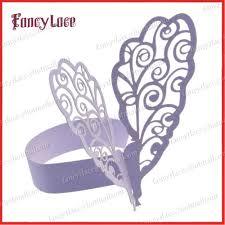 50x articles perle violet paon papier serviette porte bagues