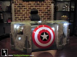 Used Wooden Captains Chairs by Replica Avengers Props Used For Office Furniture Comic Vine
