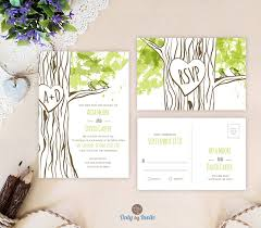 Rustic Woodsy Wedding Invitation Ideas