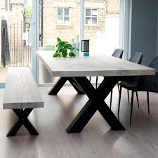 Bolt Solid Wood Metal Dining Table More