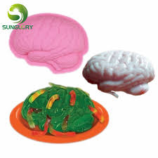 Halloween Jello Molds Brain by Silicone Zombie Brain Cake Mold Pudding Jelly Cerebrum Mold