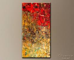 Oversize Canvas Wall Art Overzed Vertical Abstract Oh No Oversized Stretched