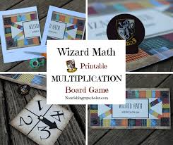 Wizard Math Printable Multiplication Board Game Nourishing My Scholar