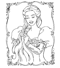 Beautiful Barbie Princess Coloring Pages