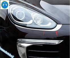 abs front headlight l light eyebrow cover trim for porsche