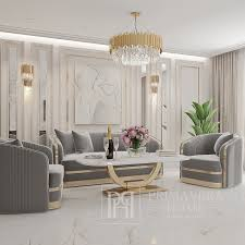 elegantes und modernes sofa madonna grau gold