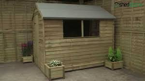 Rubbermaid Big Max Shed 7x7 by Shed Plus Overlap Pressure Treated Apex Shed Youtube