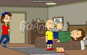 caillou chops his dad s off and gets grounded youtube