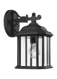 84029 12 one light outdoor wall lantern black