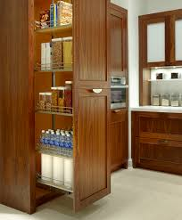 Pantry Cabinet Design Ideas by Smokey Gray Glossy Metal Pull Out Storage Pantry Cabinet With