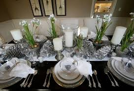 Dining Room Table Decorating Ideas by Cute Silver Christmas Table Settings Img 1463 Home Design Silver
