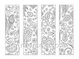 Make Your Own Bookmarks Paisley Printable Coloring Zentangle Inspired Sheet 16