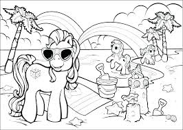 Horse Coloring Page Beach Pages Fisher Price Long Maned Spirit And Rain