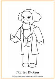 Charles Dickens Colouring Page