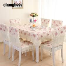 9 pcs ensemble blanc dentelle table tissu romantique nappe