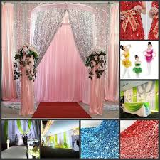 Multicolor Glitter Bling Sequins Cloth Diy Wedding Backdrop Curtains Table Stage Props Decorations Idea