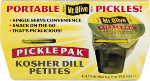 Dill Pickle On The Christmas Tree by Mt Olive Pickle Pak Kosher Dill Petites 4 Pk 3 7 Fl Oz