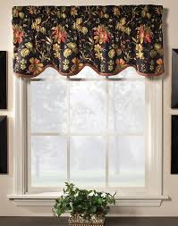 Waverly Curtains And Drapes by Felicite Scalloped Valance By Waverly Multi Color Jacobean