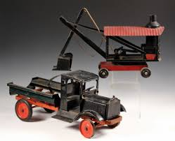 100 Antique Metal Toy Trucks Sale 318 Lot 618 2 METAL TOYS Keystone In Black And Red