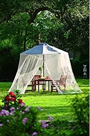 Mosquito Netting For Patio Umbrella Black by Amazon Com Ideaworks Jb5678 Outdoor 9 Foot Umbrella Table Screen
