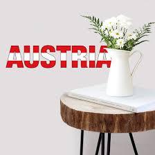 wandtattoo austria schriftzug