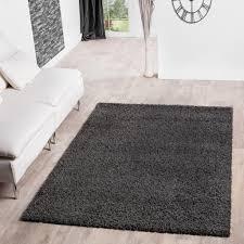 hochflor shaggy teppich preishammer einfarbig in anthrazit größe 300x400 cm
