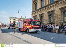 Fire Truck Parade In Munich, Germany Editorial Image - Image Of ...