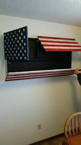 American Flag With Storage
